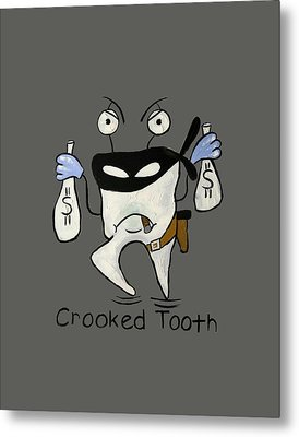 Crooked Tooth Metal Print by Anthony Falbo