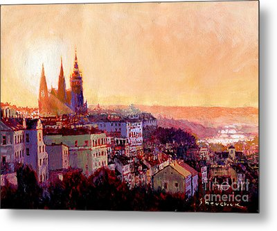 Sundown Over Prague Metal Print by Yuriy Shevchuk