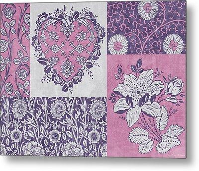 Deco Heart Pink Metal Print by JQ Licensing