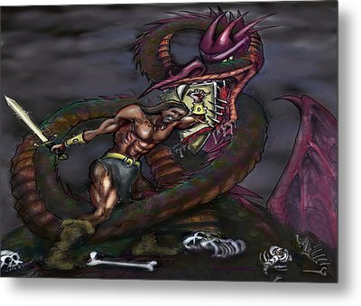 Dragonslayer Metal Print by Kevin Middleton