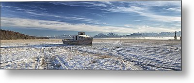 Drifter Pano Metal Print by Ed Boudreau