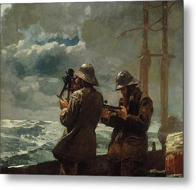 Eight Bells Metal Print by Winslow Homer