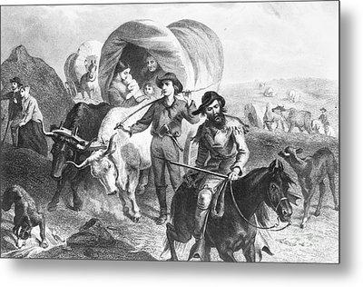Emigrants To West, 1874 Metal Print by Granger