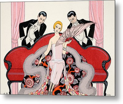 Falbalas Et Fanfreluches Metal Print by Georges Barbier