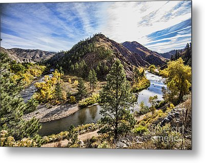 Fall On The Poudre Metal Print by Keith Ducker