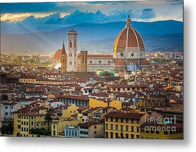 Firenze Duomo Metal Print by Inge Johnsson
