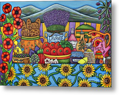 Flavours Of Provence Metal Print by Lisa  Lorenz