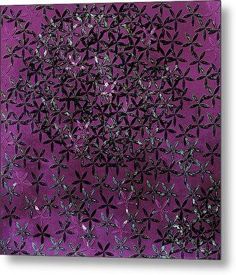 Flower Shower Metal Print by Bonnie Bruno