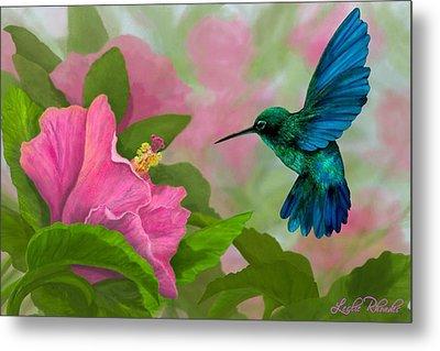 Flying Colors Metal Print by Leslie Rhoades