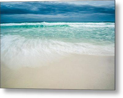 Foaming Waves Metal Print by Shelby  Young