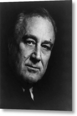 Franklin Roosevelt Metal Print by War Is Hell Store