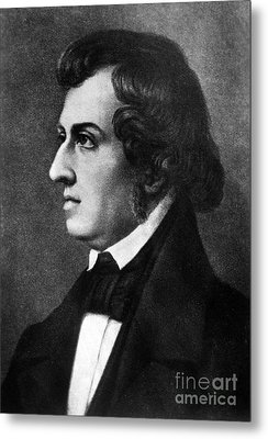 Fr�d�ric Chopin, Polish Composer Metal Print by Science Source