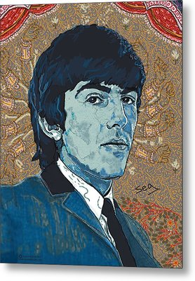 George Harrison Metal Print by Suzanne Gee