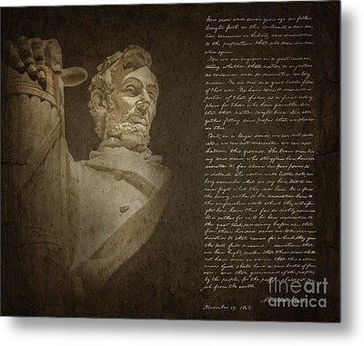 Gettysburg Address Metal Print by Diane Diederich