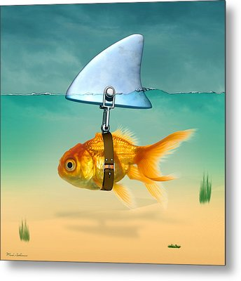 Gold Fish  Metal Print by Mark Ashkenazi