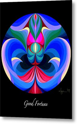 Good Fortune Metal Print by Angela Treat Lyon