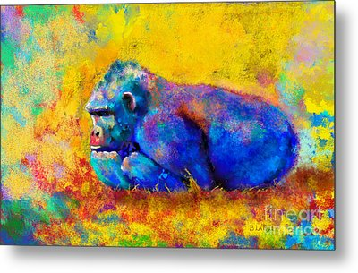 Gorilla Gorilla Metal Print by Betty LaRue