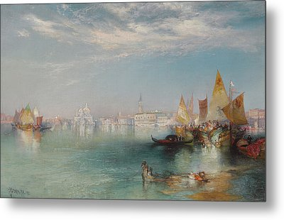Grand Canal  Venice Metal Print by Thomas Moran