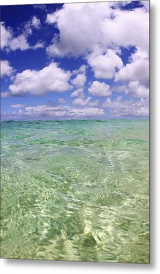 Green Water Seascape Metal Print by Vince Cavataio