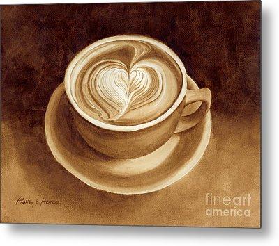 Heart Latte II Metal Print by Hailey E Herrera