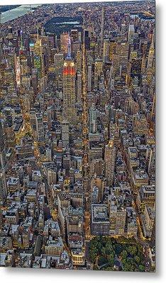 High Over Manhattan Metal Print by Susan Candelario