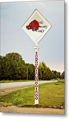 Hog Sign Metal Print by Scott Pellegrin