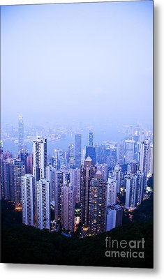 Hong Kong Skyline Metal Print by Ray Laskowitz - Printscapes