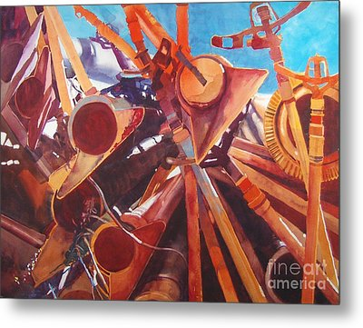 I Think They Went That-a-way Metal Print by Elizabeth Carr