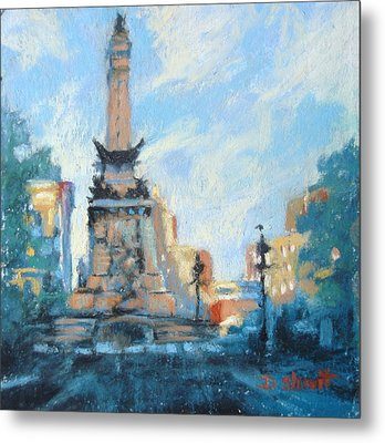 Indy Circle Day Metal Print by Donna Shortt