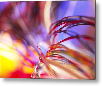 Insulated Electronic Wires Metal Print by Chris Knapton