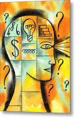 Knowledge And Idea Metal Print by Leon Zernitsky