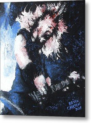 James Hetfield Metal Print by Brian Carlton