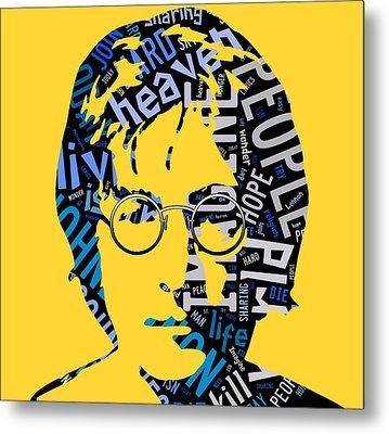 John Lennon Imagine Metal Print by Marvin Blaine