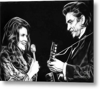June Carter And Johnny Cash Collection Metal Print by Marvin Blaine