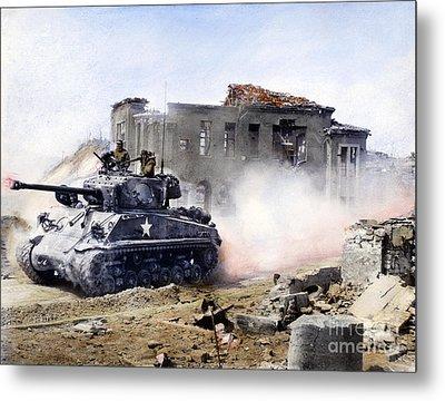 Korean War: Tank, 1951 Metal Print by Granger