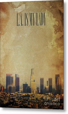 L.a. Is My Lady, Jazz Standard Poster Metal Print by Pablo Franchi