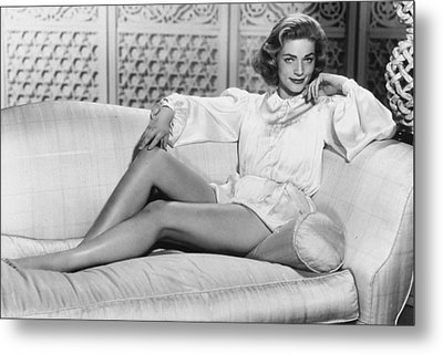 Lauren Bacall Metal Print by Unknown