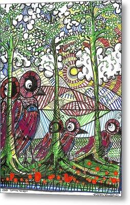 Leaving The Nest Metal Print by Robert Wolverton Jr