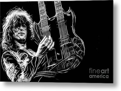 Led Zeppelin Jimmy Page Metal Print by Marvin Blaine