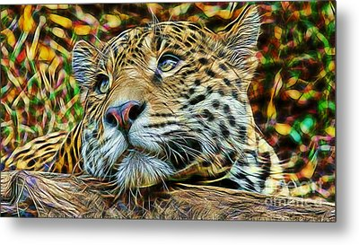 Leopard Metal Print by Marvin Blaine