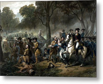 Life Of George Washington -- The Soldier Metal Print by War Is Hell Store