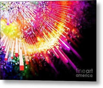 Lighting Explosion Metal Print by Setsiri Silapasuwanchai