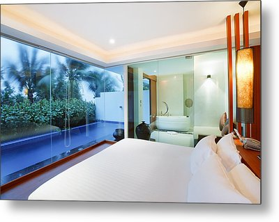 Luxury Bedroom Metal Print by Setsiri Silapasuwanchai