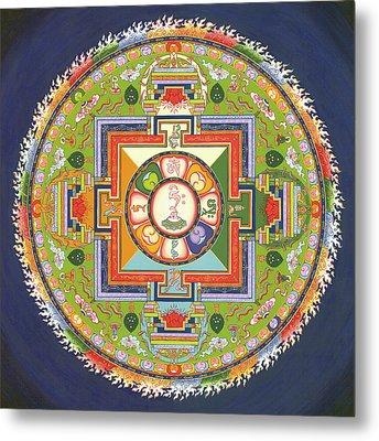 Mandala Of Avalokiteshvara           Metal Print by Carmen Mensink