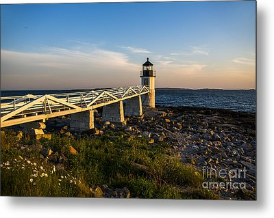 Marshall Point Lighthouse Metal Print by Diane Diederich