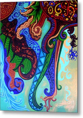 Metaphysical Habituation Metal Print by Genevieve Esson