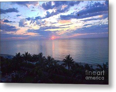 Miami Sunrise Metal Print by Pravine Chester