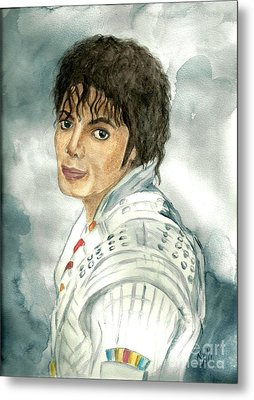 Michael Jackson - Captain Eo Metal Print by Nicole Wang