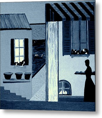 Midnight In Limoux Metal Print by Bill OConnor