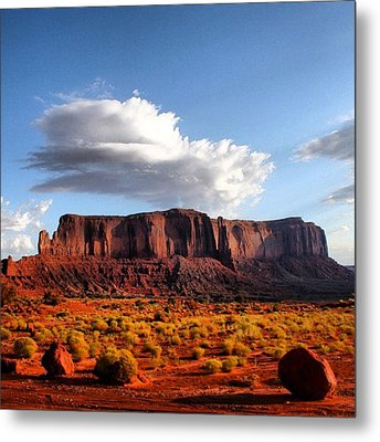 Monument Valley Metal Print by Luisa Azzolini